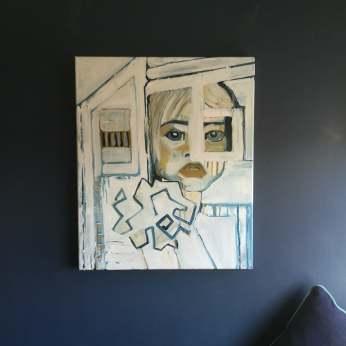Feral Girl I, Acrylic on canvas, 50cm x 60cm