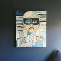 Feral Girl II, Acrylic on canvas, 50cm x 60cm