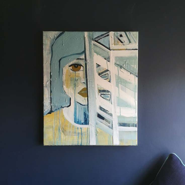Feral Girl III, Acrylic on canvas, 50cm x 60cm
