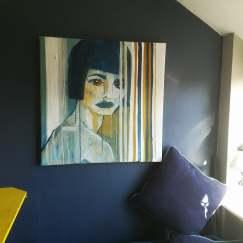 Feral Goddess, Acrylic on canvas, 76cm x 76cm