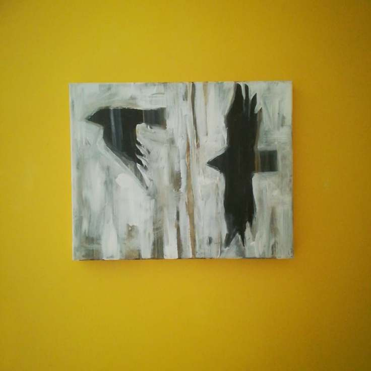 Storm Bird I, Acrylic on canvas, 50cm x 40cm