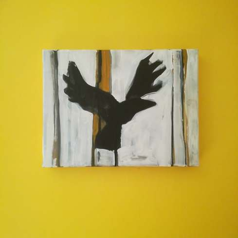 Storm Bird IV, Acrylic on canvas, 40cm x 30cm